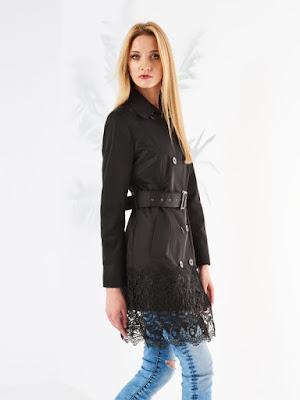 Mohito stylowy płaszcz z koronką trendy na jesień 2016 blog modowy lace trench coat