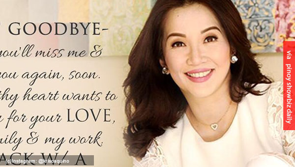 Kris Aquino to leave ABS-CBN; cites health as reason