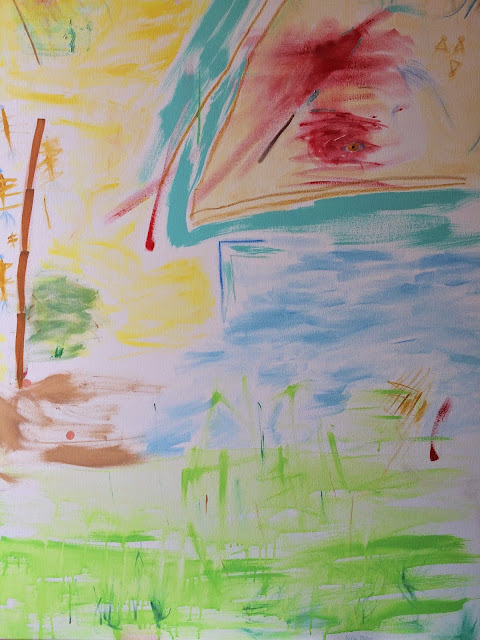 """Bird the Taker Of All To Our Spiritual Resting Place 36"""" by 48""""   $2,000,000"""