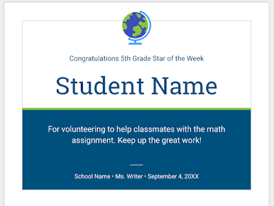 Here Is A Wonderful Google Drive Template for Creating Students Certificates