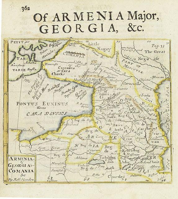 историческая карта грузии и кумании комании,