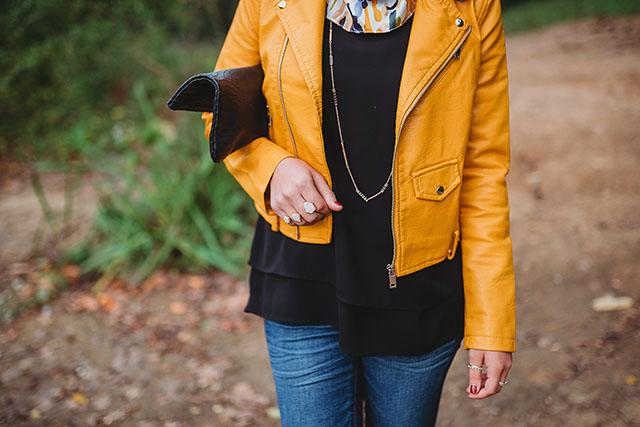 Moto Jacket-Fall Leather Jacket-Black Booties-GiGi NY Blacker Uber Clutch