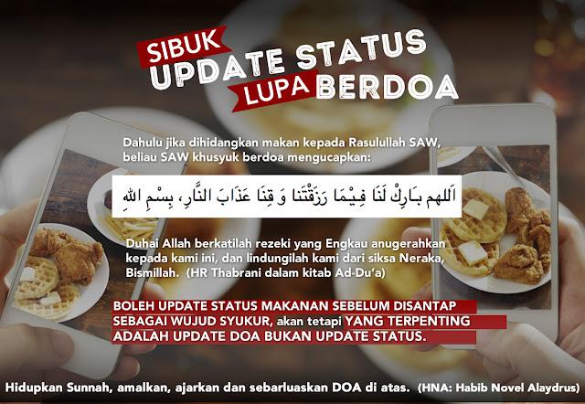 Asik Update Status Sampai Lupa Berdoa Sebelum Makan