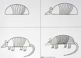 how to draw an armadillo # 41