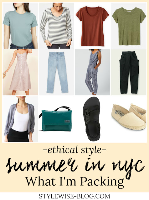 NYC Summer Packing List with Ethical Items stylewise-blog.com