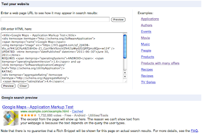 Preview rich snippets from HTML source