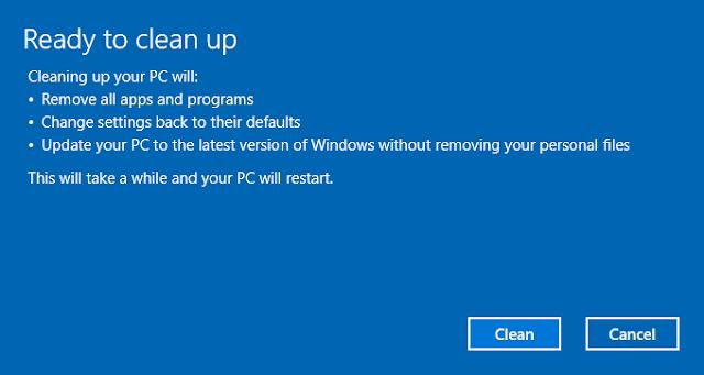 systemreset -cleanpc