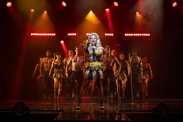 Alexandra Burke performing as Rachel Marron in the Bodyguard