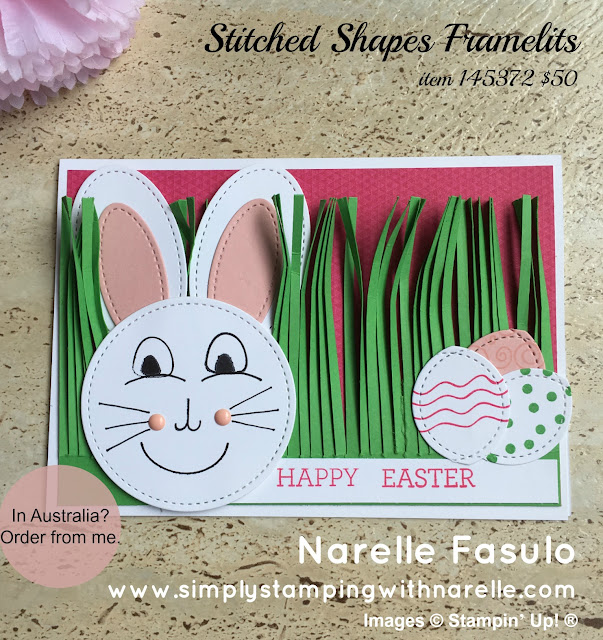 Stitched Shapes Framelits -Simply Stamping with Narelle - available here - http://bit.ly/2mX8nxC