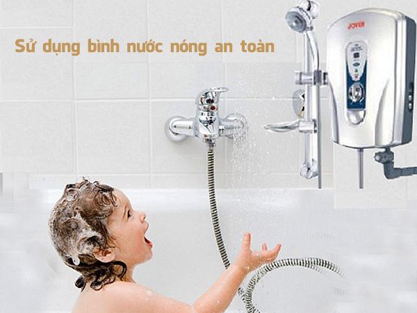 kinh nghiệm sử dụng bình nước nóng an toàn