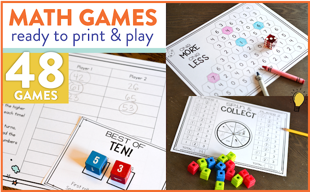 Susan Jones Teaching: Math Games for the Whole Year!