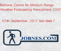 National Centre for Medium Range Weather Forecasting Recruitment 2017  for 29  various posts  apply online here