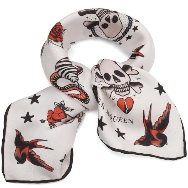 Silk Skull Tattoo Scarf