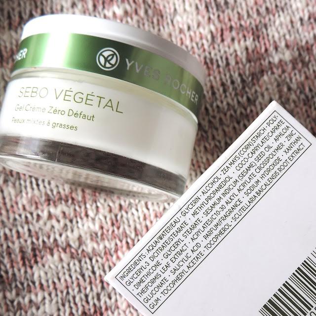 Yves Rocher Sebo Vegetal Zero Blemish Gel Cream