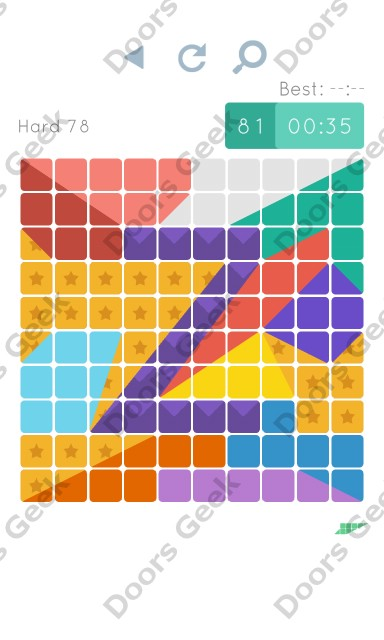 Cheats, Walkthrough for Blocks and Shapes Hard Level 78