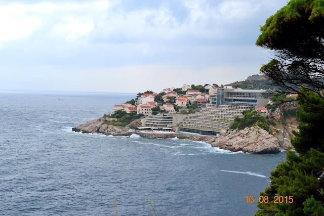 na wyspie podczas wczasów w Chorwacji