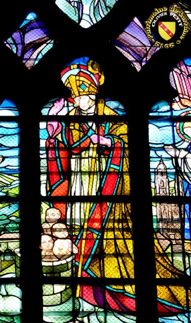 Saint-Nicolas (1925) - Vitrail de Jacques Gruber - Église de Varangéville (54)