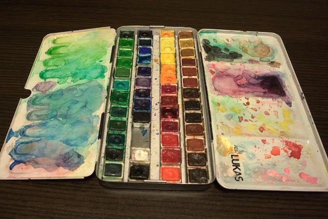 水彩絵の具 固形 LUKASパレット