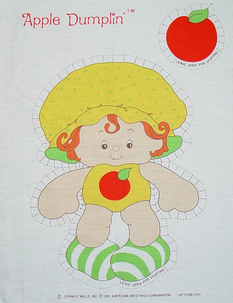Vintage Cut and Sew Dolls: Strawberry Shortcake Characters ...