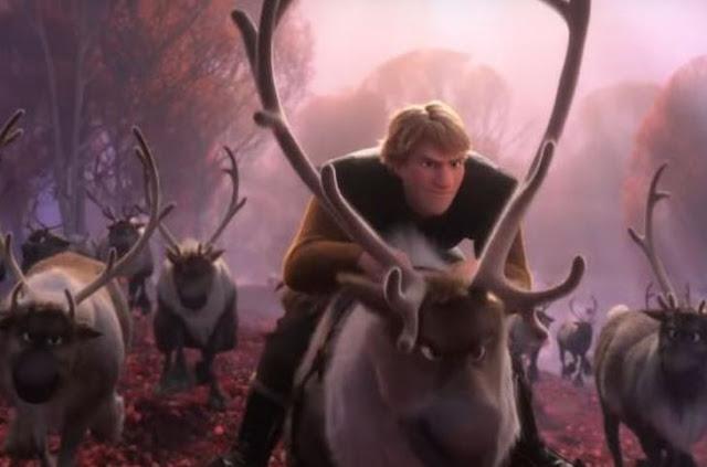 Gambar Frozen 2 Kristoff dan Pasukan Rusa