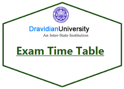 Dravidian University Time Table Nov/Dec 2019