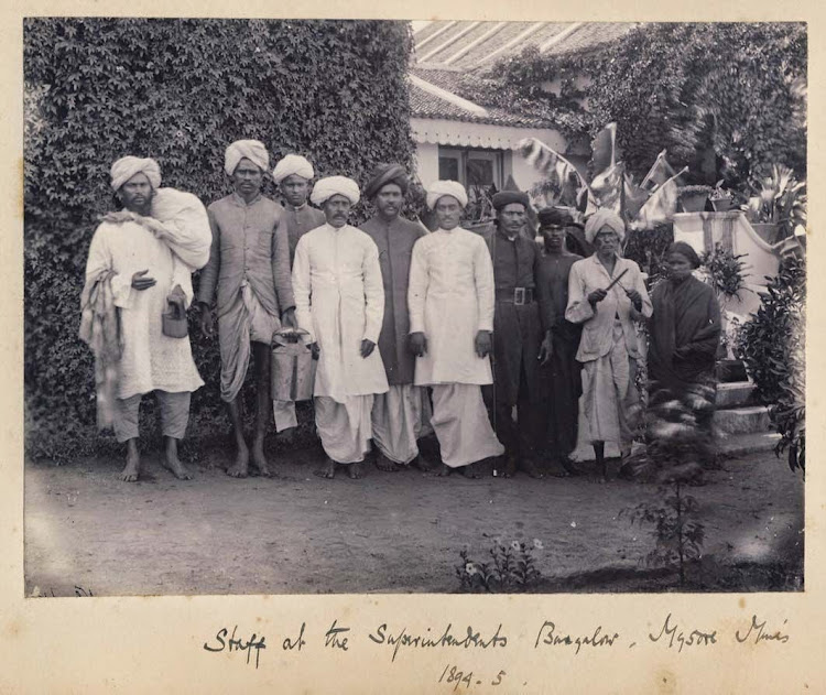 Staff at the Superintendents Bungalow - Mysore Mines, Karnataka, 1894-95