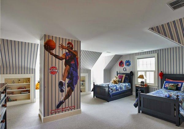 dormitorio tema basquet