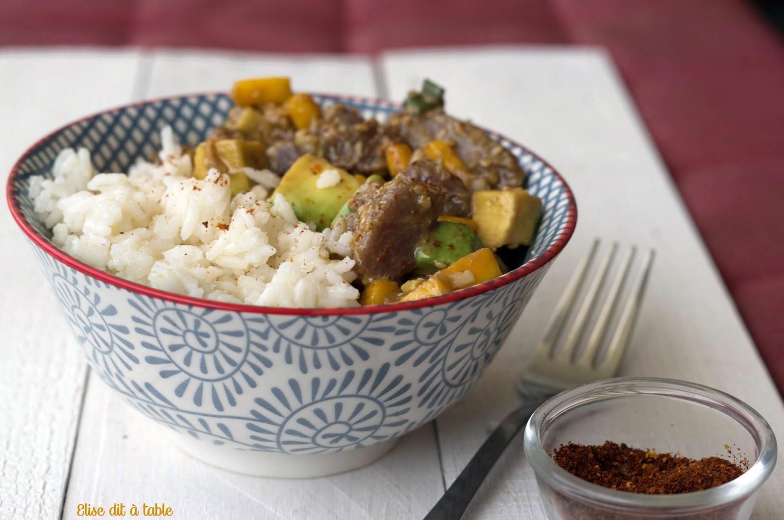 recette poke bowl hawaien au thon