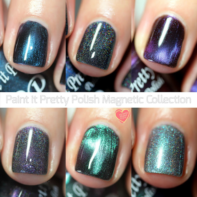 Paint It Pretty Magnetic Polishes swatches by Streets Ahead Style