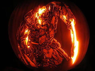 transformer optimus prime pumpkins carving ideas