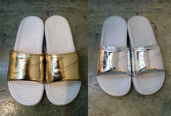 """c3b2d6b34139 Continue reading for the full preview and watch with us to find out when  and where the """"Liquid Metal"""" Nike Benassi Slides will be releasing."""