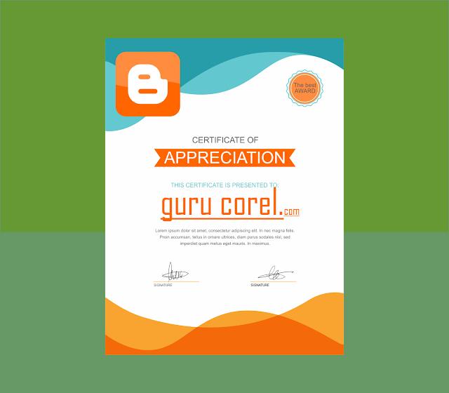 sertitikat pelatihan cdr bisa di edit