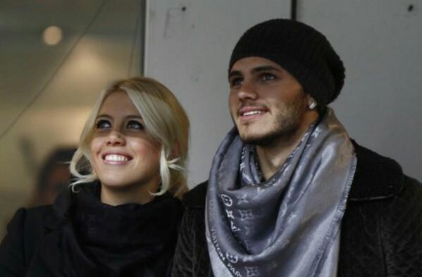 Mauro Icardi con la moglie Wanda Nara