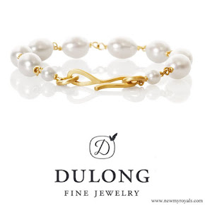 Crown-Princess Mary Dulong Fine Jewelry Anello pearl bracelet freshwater pearls