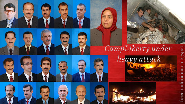 23 members of Iran's PMOI killed in attack on Camp Liberty in Iraq