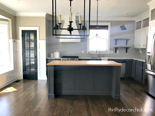 DIY extended island in kitchen