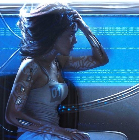 Tansie Stephens hybridgothica deviantart artstation foto-manipulações photoshop mulheres ficção científica cyberpunk futurista autorretratos sombrio