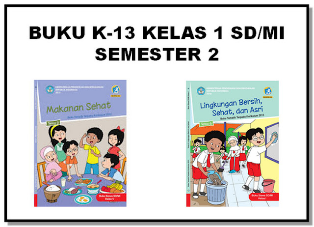 Buku K13 Revisi 2017 Kelas 1 SD/MI Semester 2
