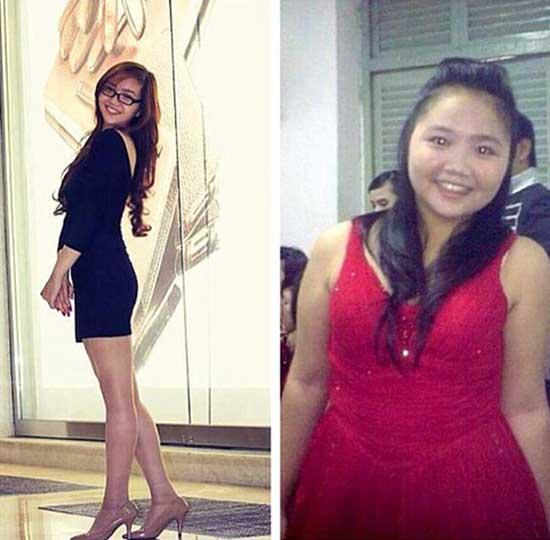 Trước và sau khi giảm cân