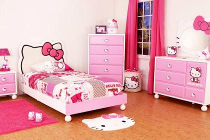 √ 35 Desain Kamar Tidur Hello Kitty Untuk Anak Wanita Terbaru