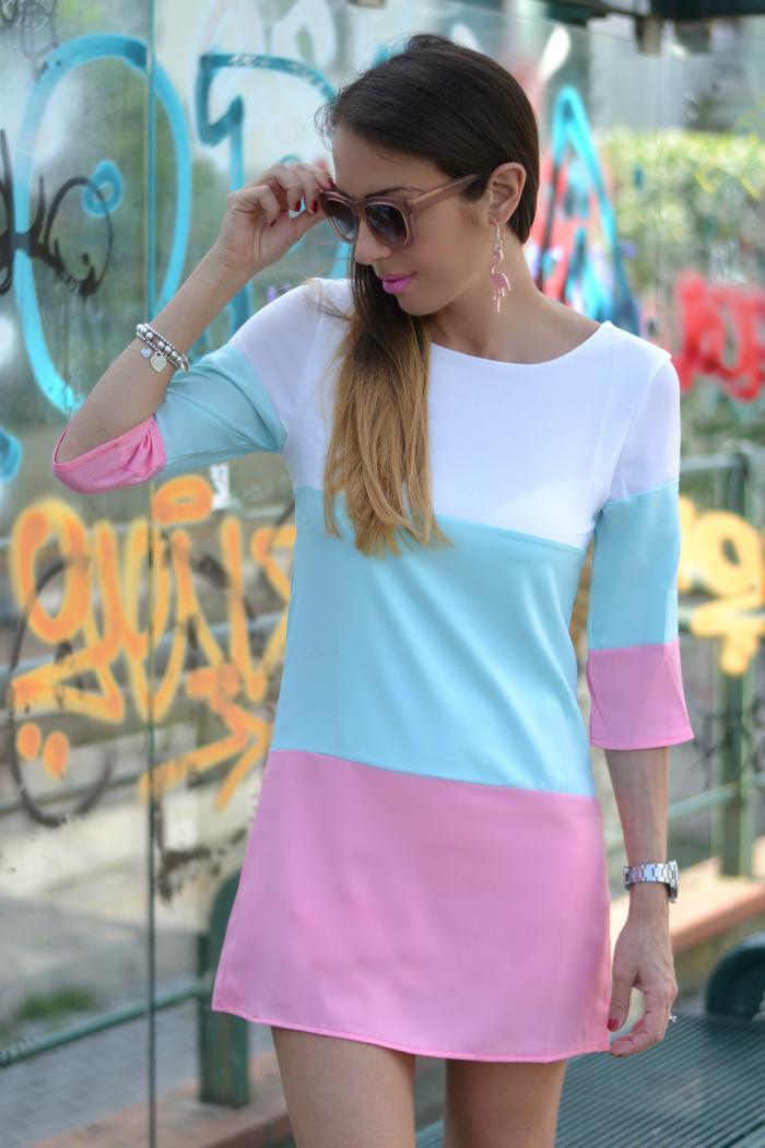 abito color block