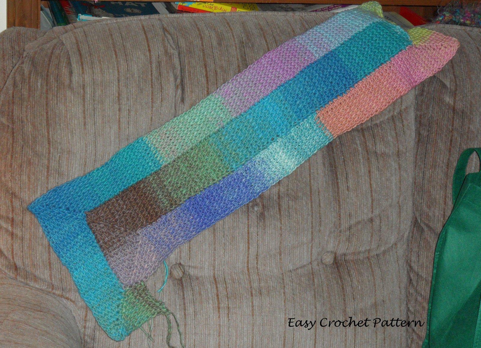 Easy Crochet Pattern Tunisian Crochet Afghan