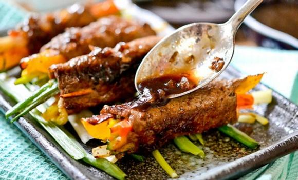 Rollos De Filete Con Verduras Y Vinagre Balsámico
