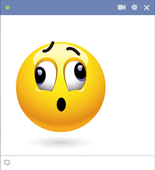 Stunned emoticon for FB