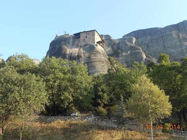 Meteora Monastery on top of boulder