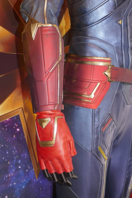 Captain Marvel costume gauntlet glove detail