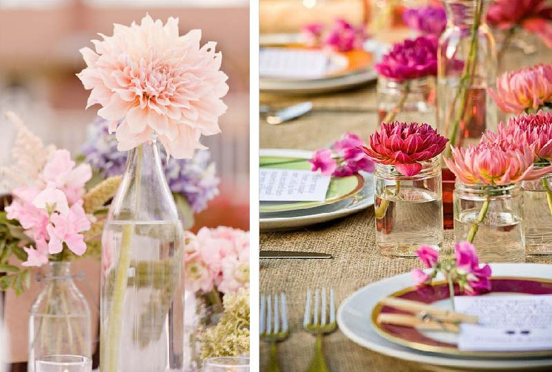 fiori in tavola