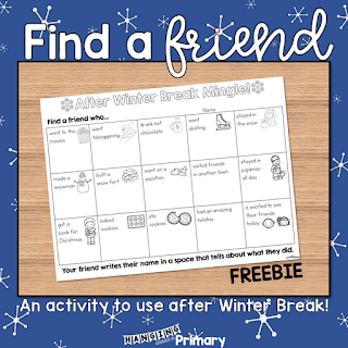 Find-A-Friend After Winter Break Activity