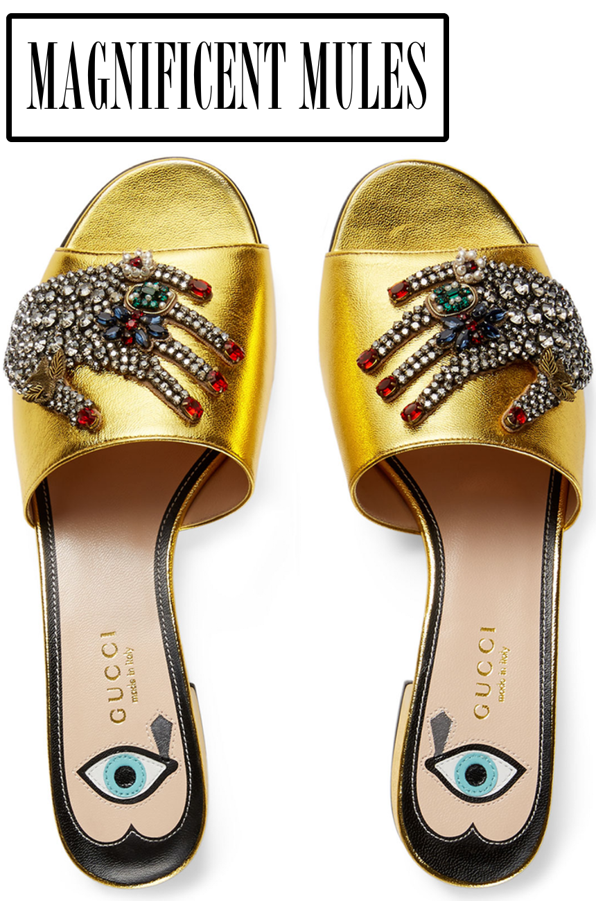 Gucci Wangy Jeweled Mule Slide