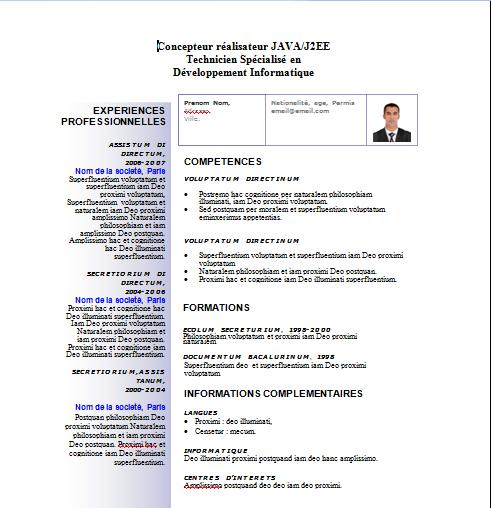 cv realisateur video exemple
